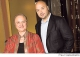 Lidia Matticchio Bastianich e il figlio  Joseph  che hanno cucinato per il Papa Benedetto  XVI  in  visita  a  New  York.